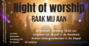 Night of worship 18 oktober